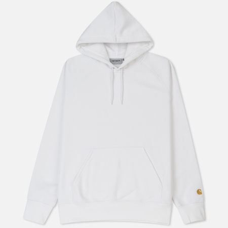 Мужская толстовка Carhartt WIP Hooded Chase Brushed 13 Oz White/Gold