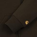 Мужская толстовка Carhartt WIP Hooded Chase Cypress/Gold фото- 3