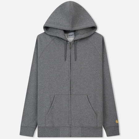 Мужская толстовка Carhartt WIP Hooded Chase Dark Grey Heather/Gold