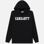 Мужская толстовка Carhartt WIP Hooded College 9.4 Oz Black/White фото- 0