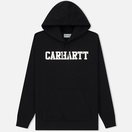 Мужская толстовка Carhartt WIP Hooded College 9.4 Oz Black/White