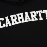 Мужская толстовка Carhartt WIP Hooded College 9.4 Oz Black/White фото- 2