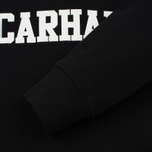 Мужская толстовка Carhartt WIP Hooded College 9.4 Oz Black/White фото- 3
