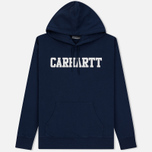Мужская толстовка Carhartt WIP Hooded College 9.4 Oz Blue/White фото- 0