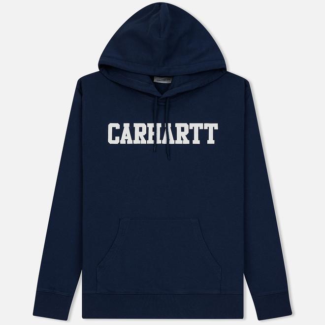 Мужская толстовка Carhartt WIP Hooded College 9.4 Oz Blue/White
