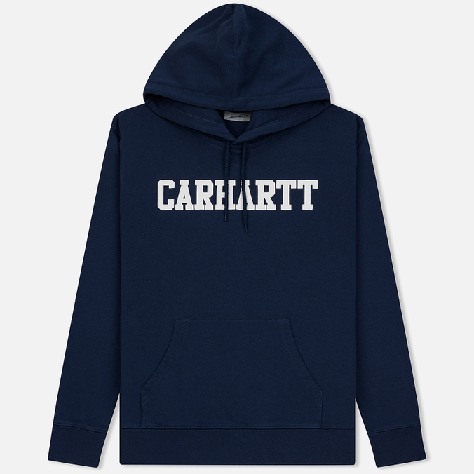 Мужская толстовка Carhartt WIP Hooded College 9.4 Oz Blue/White