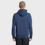 Мужская толстовка Carhartt WIP Hooded College 9.4 Oz Blue/White фото- 2