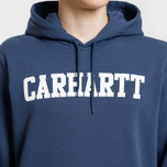 Мужская толстовка Carhartt WIP Hooded College 9.4 Oz Blue/White фото- 3