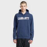 Мужская толстовка Carhartt WIP Hooded College 9.4 Oz Blue/White фото- 1