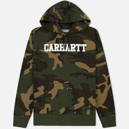 Мужская толстовка Carhartt WIP Hooded College 9.4 Oz Camo Laurel/White