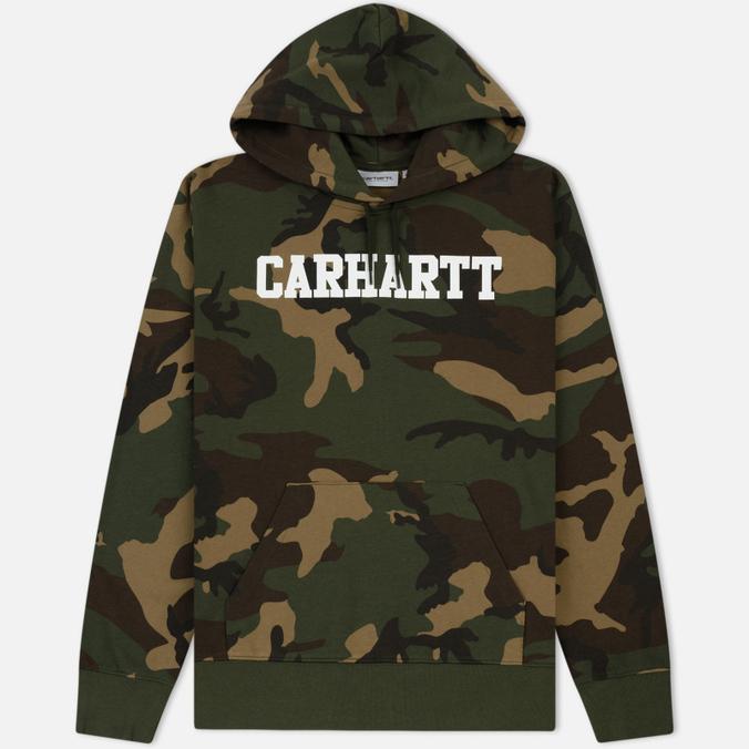 Мужская толстовка Carhartt WIP Hooded College 9.4 Oz Camo Laurel/White