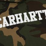 Мужская толстовка Carhartt WIP Hooded College 9.4 Oz Camo Laurel/White фото- 2