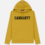 Мужская толстовка Carhartt WIP Hooded College 9.4 Oz Colza/Black фото- 0