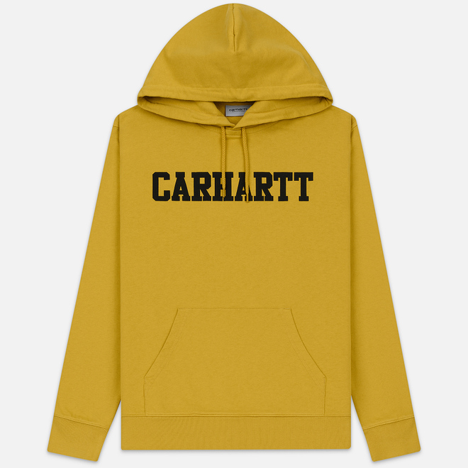 Мужская толстовка Carhartt WIP Hooded College 9.4 Oz Colza/Black