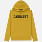 Мужская толстовка Carhartt WIP Hooded College 9.4 Oz Colza/Black фото - 0