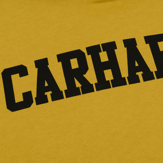 Мужская толстовка Carhartt WIP Hooded College 9.4 Oz Colza/Black