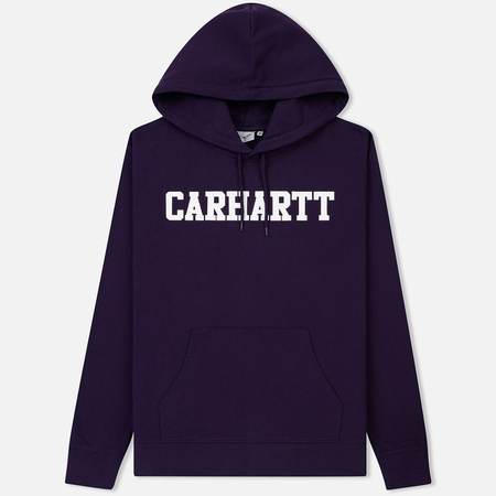 Мужская толстовка Carhartt WIP Hooded College 9.4 Oz Lakers/White