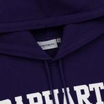 Мужская толстовка Carhartt WIP Hooded College 9.4 Oz Royal Violet/White фото- 1