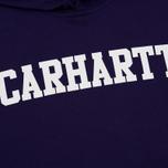 Мужская толстовка Carhartt WIP Hooded College 9.4 Oz Royal Violet/White фото- 2