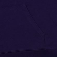 Мужская толстовка Carhartt WIP Hooded College 9.4 Oz Royal Violet/White фото- 3