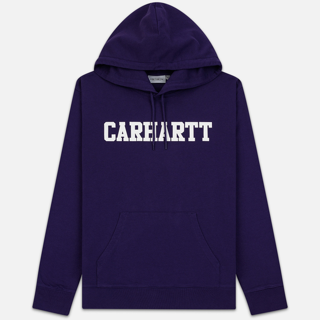 Мужская толстовка Carhartt WIP Hooded College 9.4 Oz Royal Violet/White