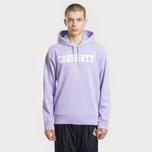 Мужская толстовка Carhartt WIP Hooded College 9.4 Oz Soft Lavender/White фото- 1