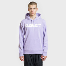 Мужская толстовка Carhartt WIP Hooded College 9.4 Oz Soft Lavender/White фото- 1