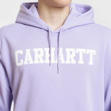 Мужская толстовка Carhartt WIP Hooded College 9.4 Oz Soft Lavender/White фото- 3