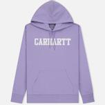 Мужская толстовка Carhartt WIP Hooded College 9.4 Oz Soft Lavender/White фото- 0