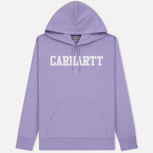Мужская толстовка Carhartt WIP Hooded College 9.4 Oz Soft Lavender/White фото- 0