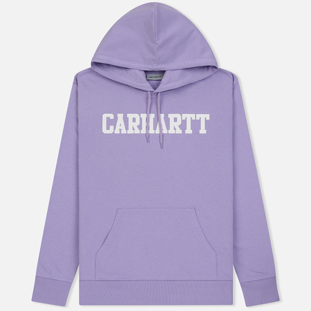 Мужская толстовка Carhartt WIP Hooded College 9.4 Oz Soft Lavender/White