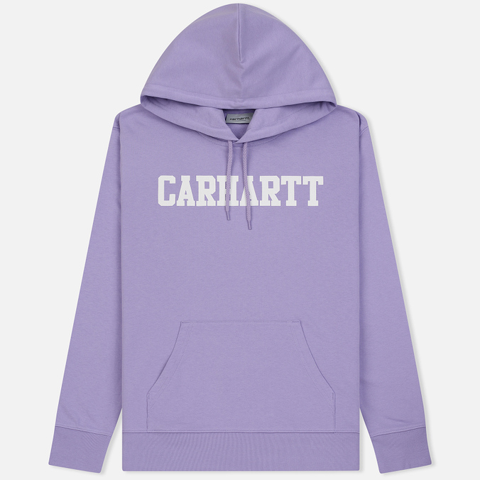 Мужская толстовка Carhartt WIP Hooded College 9.4 Oz Soft Lavender/White