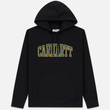 Мужская толстовка Carhartt WIP Hooded Theory 13 Oz Black фото- 0