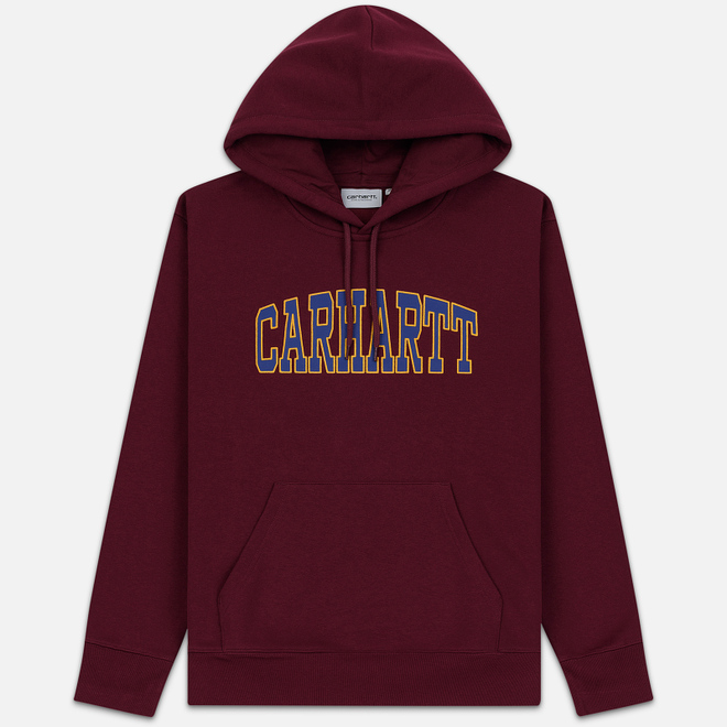 Мужская толстовка Carhartt WIP Hooded Theory 13 Oz Merlot