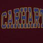 Мужская толстовка Carhartt WIP Hooded Theory 13 Oz Merlot фото - 2