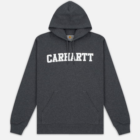 Мужская толстовка Carhartt WIP Kangaroo College Dark Grey Heather/White