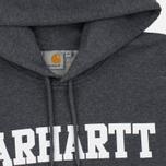 Мужская толстовка Carhartt WIP Kangaroo College Dark Grey Heather/White фото- 1