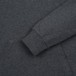 Мужская толстовка Carhartt WIP Kangaroo College Dark Grey Heather/White фото- 3