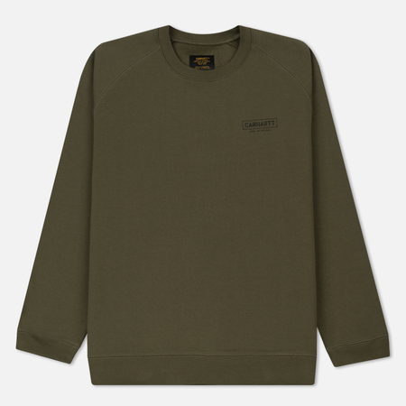 Мужская толстовка Carhartt WIP ML Code 12.8 Oz Rover Green/Black