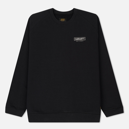 Мужская толстовка Carhartt WIP ML Code 12.8 Oz Soot/White