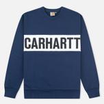 Мужская толстовка Carhartt WIP Shore Blue/White фото- 0