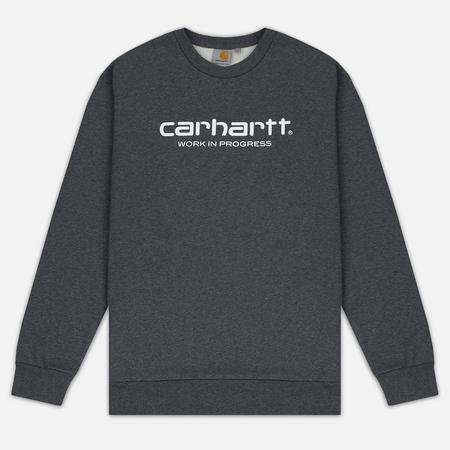 Мужская толстовка Carhartt WIP Wip Script 9.4 Oz Dark Grey Heather/White
