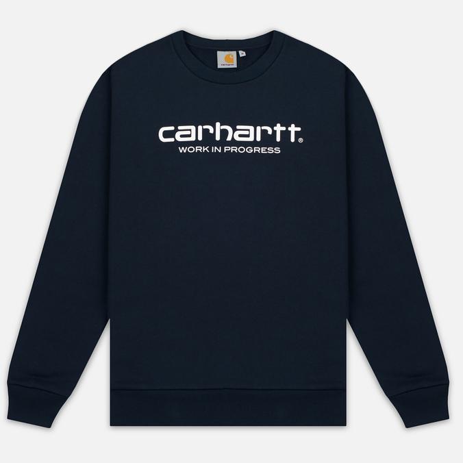 Мужская толстовка Carhartt WIP Wip Script 9.4 Oz Navy/White