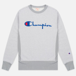 Мужская толстовка Champion Reverse Weave 2 Tone Crew Neck Marl Grey фото- 0