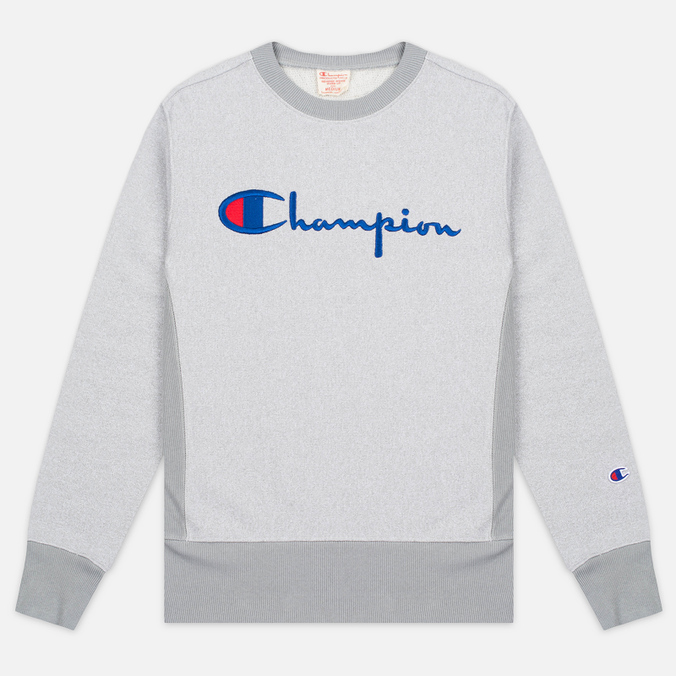 Мужская толстовка Champion Reverse Weave 2 Tone Crew Neck Marl Grey