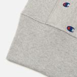 Мужская толстовка Champion Reverse Weave All Over Embroidered Crew Neck Grey фото- 3