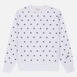 Мужская толстовка Champion Reverse Weave All Over Embroidered Crew Neck White фото- 0