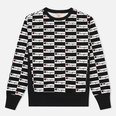 Мужская толстовка Champion Reverse Weave All Over Print Champion Black