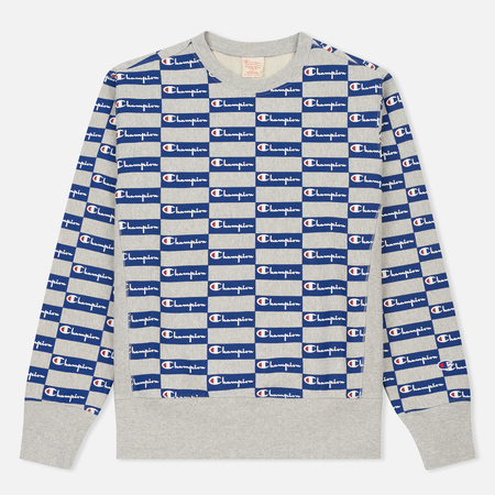 Мужская толстовка Champion Reverse Weave All Over Print Champion Grey