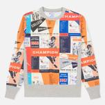 Мужская толстовка Champion Reverse Weave All Over Print Sport Grey фото- 0
